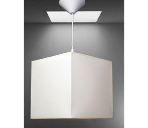 Lampa E-Z kwadrat 240x240x240 imitacja bawełny  kolory