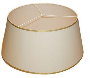 Abażur 500x400x230 bawełna, złoty lub srebrny brzeg